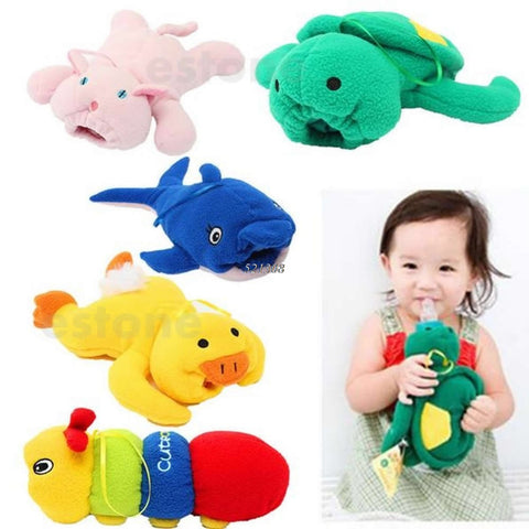 Cute Baby Feeding Bottle Plush Pouch Covers