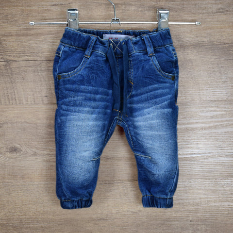 Infant Boy&Girl Blue Winter Warm Denim Pants