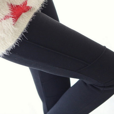 Winter Pants For Pregnant Women Velvet Warm Pantalones