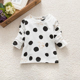 Child Kids Baby Girls Boys T-shirts Unisex Polka Dots