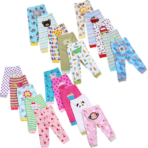 5pcs / Lot Baby Gril Pants Embroidered Animals Baby Pants