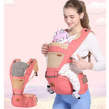 Portable infant baby carrier Kangaroo hipseat heaps with sucks pad