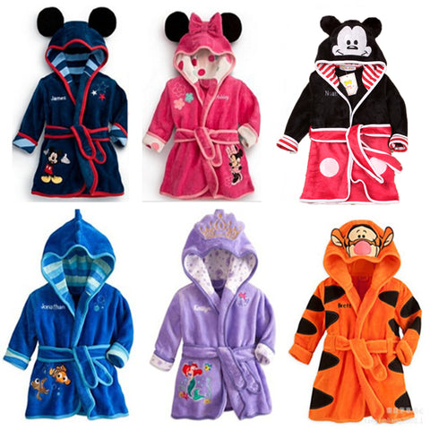 Children Pajamas Robe Kids Clothes Boys Girls