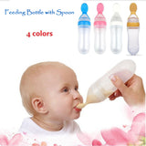 1PC Silicone Baby Feeding Bottle with Spoon