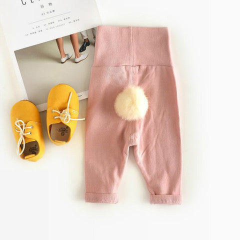 Old  Baby Cute Hair Ball Leggings Winter Boys