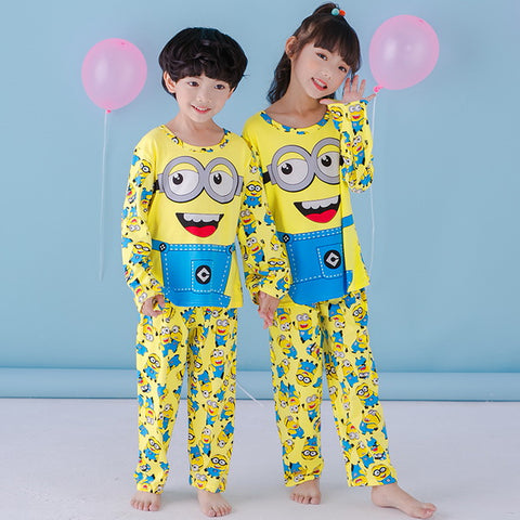 Nightgown NEW Autumn and Winter Kids Pajamas set warm child sleepwear
