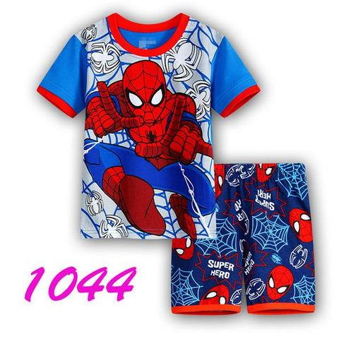 Kids Sets Short Sleeve Cartoon Boy Pajamas