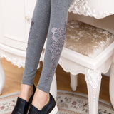 pregnant women floral lace leggings spring autumn