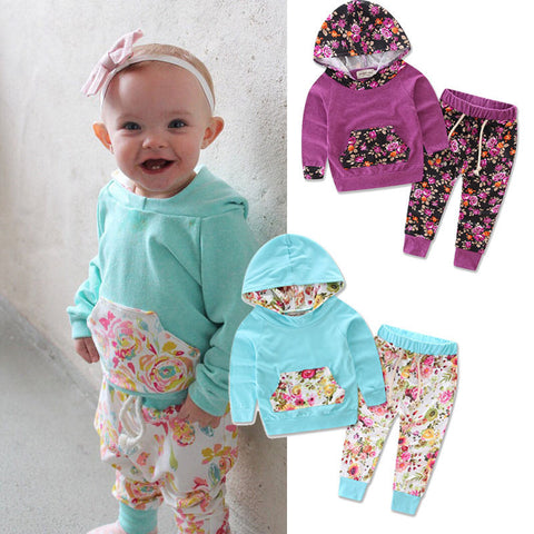 Bebek Long Sleeve Hooded Sweatshirt Pants
