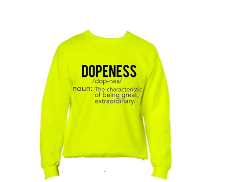 Dopeness Sweatshirt: Neon Bright Lights edition