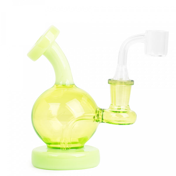"5"" Shuvit Concentrate Rig - Red Eye Glass - Green"