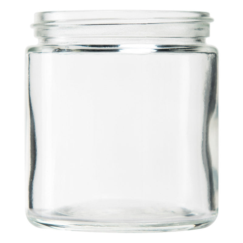 5oz Standard Glass Jar - Black Plastic Screw Lid - 100pc Case