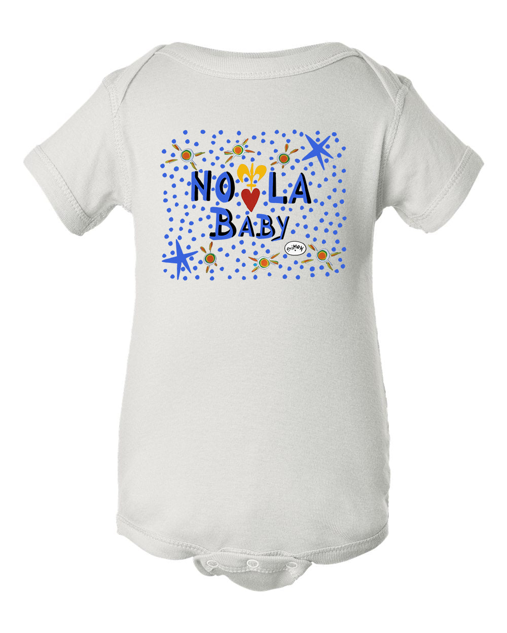 NOLA Baby in Blue - Infant Baby Rib Bodysuit - by Simon