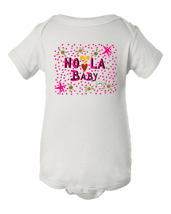 NOLA Baby in Pink - Infant Baby Rib Bodysuit - by Simon