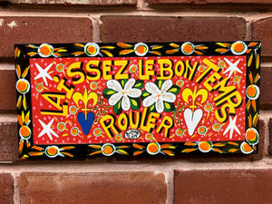 "Laissez Le Bon Temps Rouler by Simon 2019 6"" x 13"" Black Trim"
