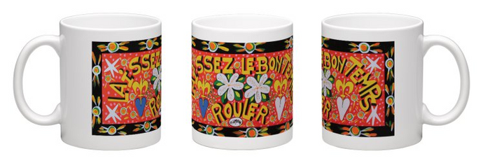 Laissez Le Bon Temps Rouler Coffee Mug by Simon of New Orleans