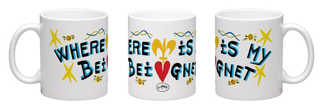 Beignet Coffee Mug by Simon of New Orleans