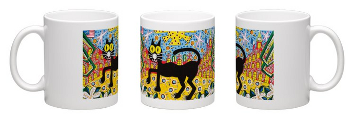 Black Cat Coffee Mug by Simon of New Orleans