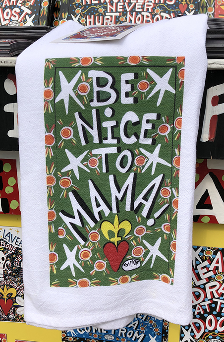 Be Nice To Mama kitchen towel by Simon