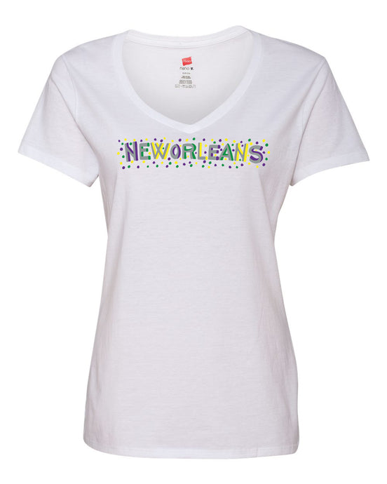 Purple, Green and Gold New Orleans Shirt with Grey Letters by Simon