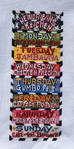 New Orleans Kitchen - kitchen towel by Simon