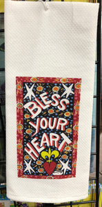 Bless Your Heart kitchen towel by Simon