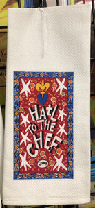 Hail to the Chef kitchen towel by Simon