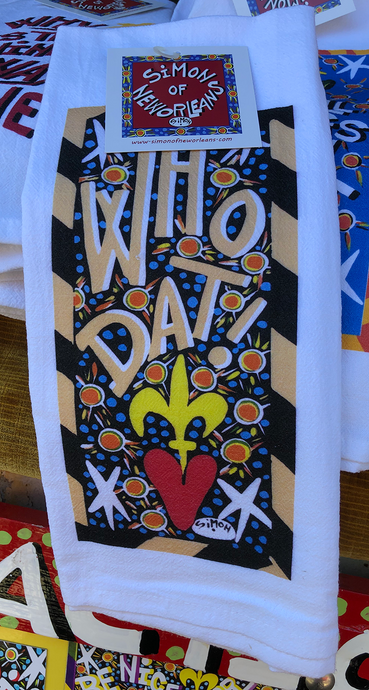 Who Dat kitchen towel by Simon