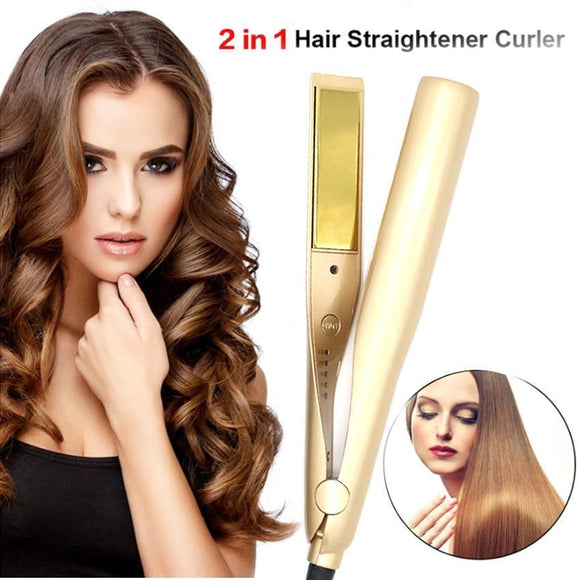 Glow Allure 2 In 1 Hair Straightener & Curler