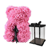 Glow Allure 25cm pink with box Luxury Rose Bear
