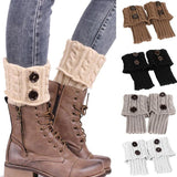 Glow Allure Knitted Boot Cuffs