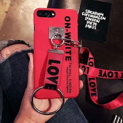 Glow Allure Red / For iPhone 6 6S Love Letter Lanyard Case