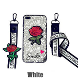 Glow Allure White / for iphone 5 5S SE 3D Rose Phone Case