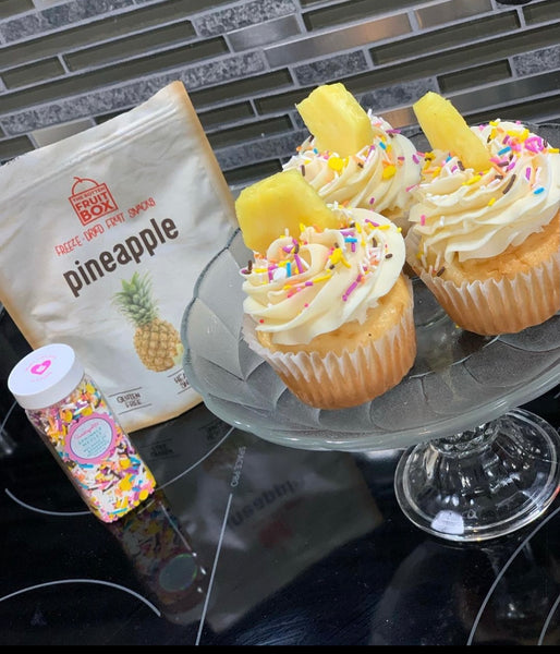 Pineapple Banana split Cupcakes