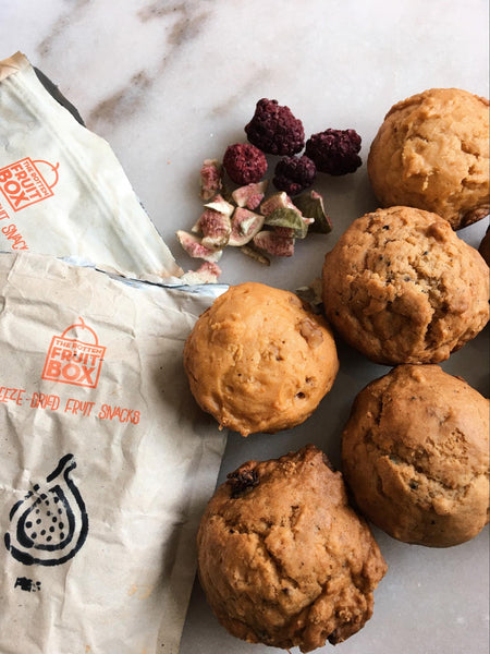 Sweet Potato Muffins with Freeze Dried Fig & BlackBerry