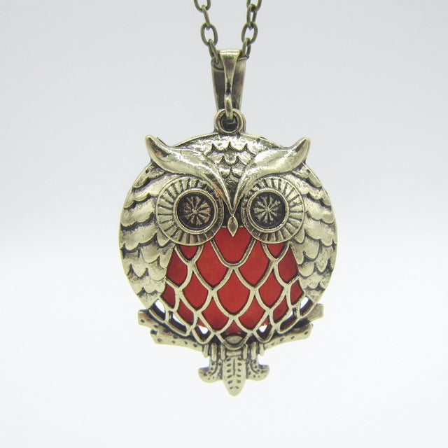 Essential Oil / Fragrance Owl Diffuser Necklace with felt pads