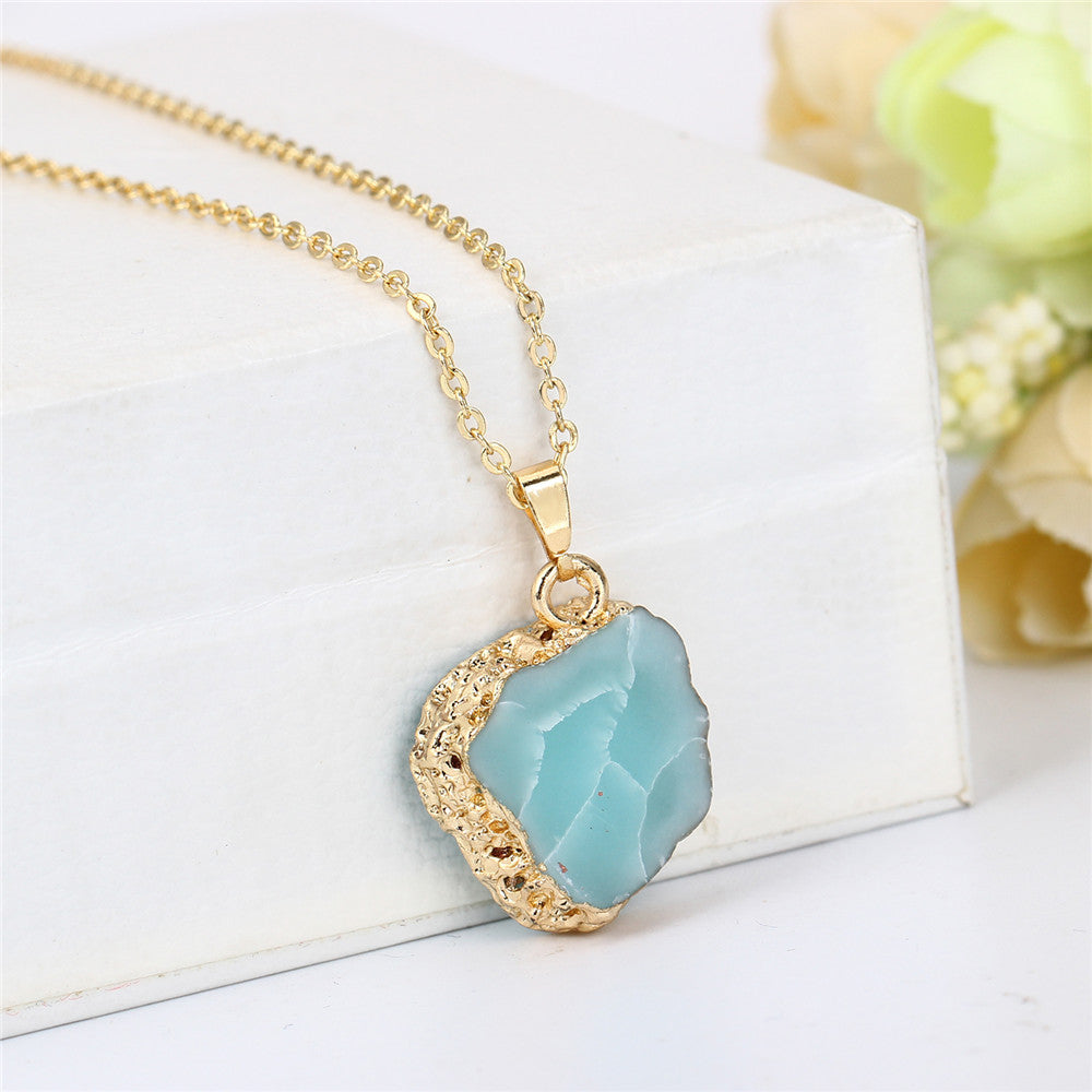 Serenity Mint Pendant Necklace