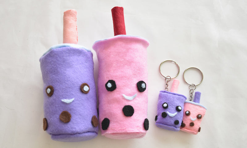 DIY Boba plushie and keychain tutorial