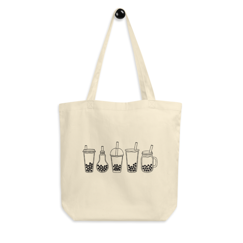 Bubble Tea Cups tote bag