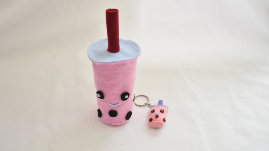 DIY bubble tea plushie