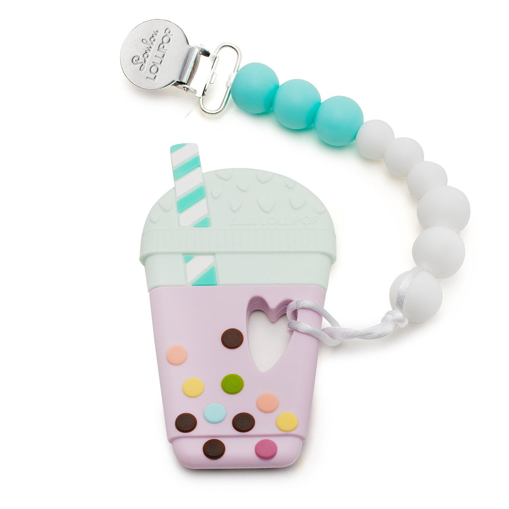 bubble tea silicone teether