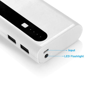 Aibocn Power Bank 10,000mAh External Battery Charger with Backup Flashlight