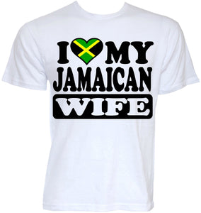 2018 I love my Jamaican wife 100% cotton t-shirt