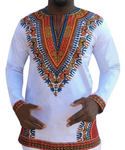 African  V-neck Long Sleeve dashiki