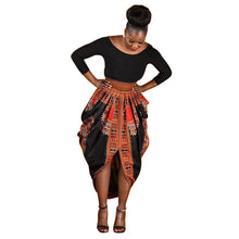 Aproms african midi dresses for womens dashiki printed 3/4 Sleeve Dresses ladies Big size african clothing Robe Femme 10947