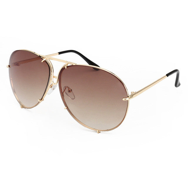 2018 ROYAL GIRL BRAND High Quality Retro Sunglasses Classic Brand Designer Oval Sunglasses Coating Mirror Lens