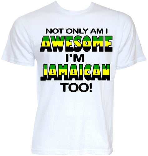 2018 Jamaican & awesome 100% cotton t-shirt