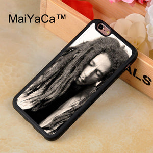 MaiYaCa Bob Marley protective Rubber Phone Case For iPhone 7 TPU Cases Back Cover Capa Coque For iPhone 7 Case
