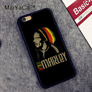 MaiYaCa BOB MARLEYS JAMAICA rubber phone case for Apple iPhone 6S 6 TPU