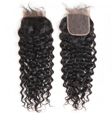 Brazilian Natural Wave Lace Closure Middle, Free or Three way part